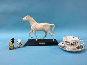 A Beswick horse and Royal Crown Derby mouse etc.