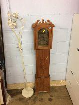 A lamp and Granddaughter clock