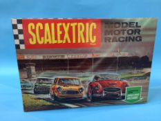 A boxed vintage Scalextric