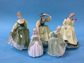 Five Royal Doulton figures