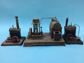 Three tinplate model engines