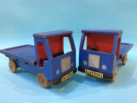 Pair of wooden Wagons