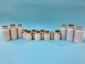 A collection of Portmeirion 'Totem' storage jars (14)