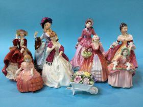Eight various figures, Royal Worcester etc.
