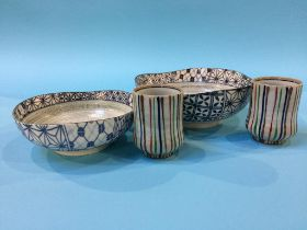 Four pieces of Japanese pottery
