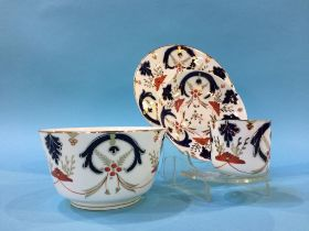 A Victorian Imari pattern coffee set