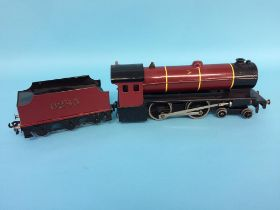 A '0' gauge Basset Lowke Limited Enterprise Express 4-4-0, 6285, with red livery