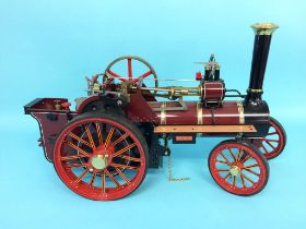 A live steam engine, 'The Burrell Traction Engine', no. 3728, 'Prince' by Chas Burrell and Sons Ltd,