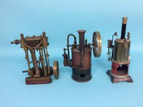 Three various model engines