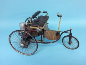 A vintage model tricycle, 43cm length, 24cm height