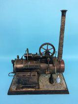 A model spirit fired engine, stamped G.B.N. Bavaria, 38cm x 18cm