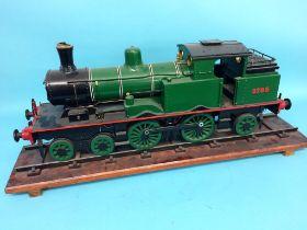 A 3 ½ inch gauge scratch built wooden static display model of a Hunslet Works locomotive, no.