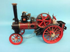 A 3 ¼ inch scale 'Burrell' traction engine, LWB10, Chas Burrell and Sons Ltd, no. 3728. 40cm length,