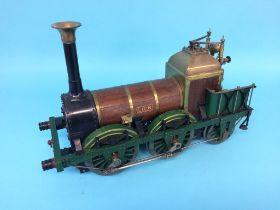 A live 3 ½ inch gauge locomotive, 'Lion', 40cm x 27cm