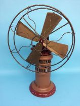 A scratch built paraffin driven fan, 63cm height