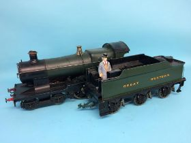 A live 3 ½ inch gauge Great Western locomotive and tender, Bulldog, 4-4-0, Camelot, no. 3343,