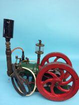 A single cylinder Hit and Miss electric table engine, 42cm width