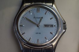 Accurist WR 50 day-date gents wristwatch