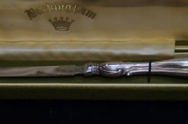 A silver handled letter opener- boxed