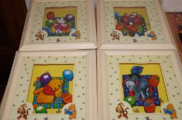 4 Winnie the Pooh shadow boxes