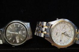 Gents Seiko chronograph wristwatch together with a
