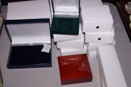 20 boxes of empty jewellery boxes as new