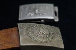 2 military German belt buckles