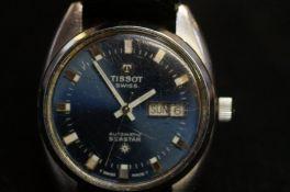 Gents Tissot automatic Seastar wristwatch with blu