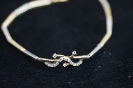 9 Carat Yellow and White Gold Bracelet - 7g