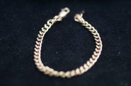 9 Carat Rose Gold Bracelet - 19cm - 3.6g