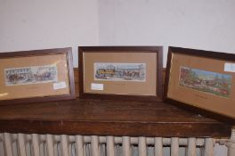 three woven pictures