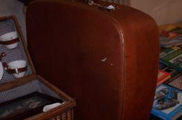 Airport vintage suitcase