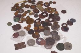 Collection of metal detector finds, coinage and ot