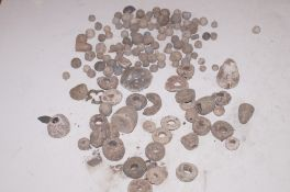 Collection of metal detector finds, mainly musket