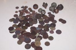 Collection of metal detector finds to include Geor