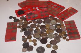 Collection of metal detector finds, mainly coinage
