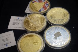 Oversized Commemorative Coin Collection - 5 Coins
