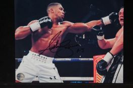 Anthony Joshua signed photo with COA from inperson