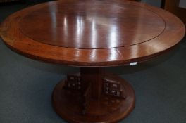 Early 20th Century Circular Table with Chinese Inf