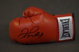 Boxing Gloves signed by Floyd Maywether Jr - COA b
