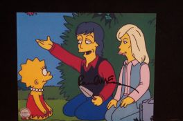 "Paul McCartney signed ""Simpsons"" photo from the Oc"