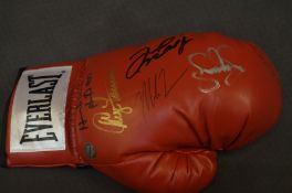 Boxing Glove signed by Muhammad Ali, Floyd