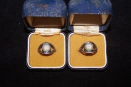 2 Tri-Colour Wedgewood Jasper Silver Rings - Size