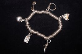 Silver Links of London Charm Bracelet with 6 Charm
