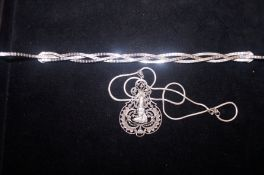 2 Silver Necklaces