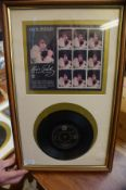 Limited Edition Elvis Presley Stamps with Record 5
