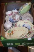 Box of Ceramics to include Maling