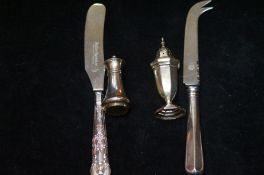 Silver Handled Cheese Knife, Silver Handled Butter
