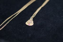 9ct Gold Pendant (Hoover) Suspended on a Gilt Ment