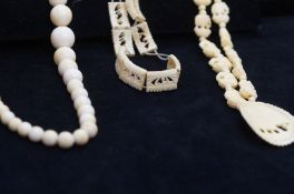 Collection of Bone and Ivory Jewellery
